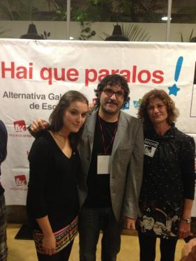 Eva Solla (EU), Juan Fajardo (EU) e Chelo Martínez (ANOVA) son os tres novos deputados de AGE por Pontevedra