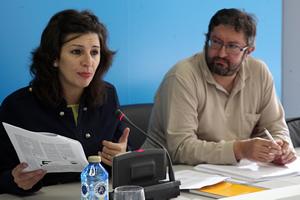 Yolanda Diaz e Xavier Ron, membros da executiva de EU