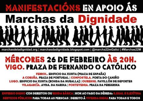 marchas 22m Cartaz Vigo